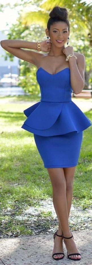 Pendientes azul marino de Front Row