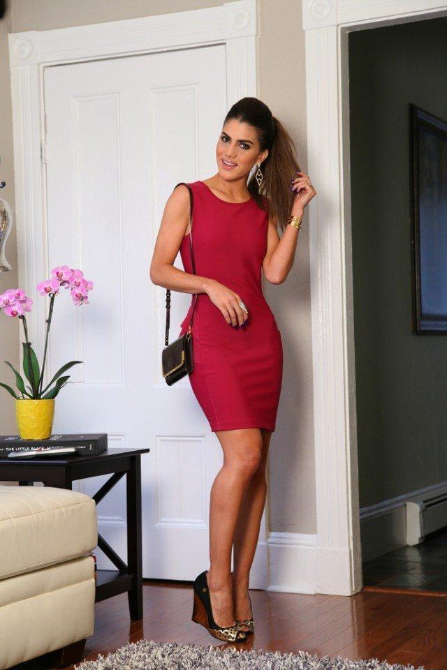 Combinar vestido rojo bolso