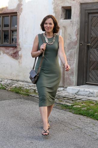 Combinar vestido punto verde