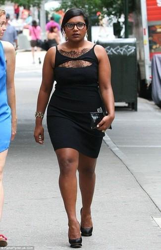 Cómo Combinar Un Vestido De Encaje Negro 101 Looks De Moda