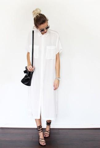 Vestido camisa blanca de Prada
