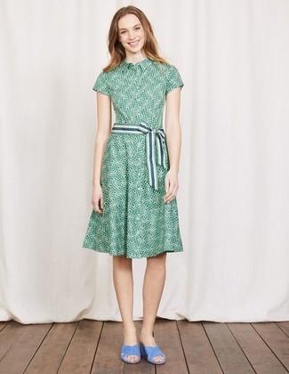 Como combinar un vestido verde estampado