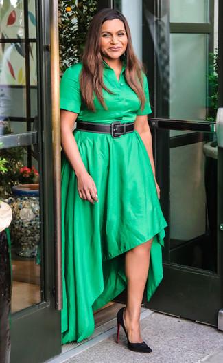 Zapatos para vestido corto verde
