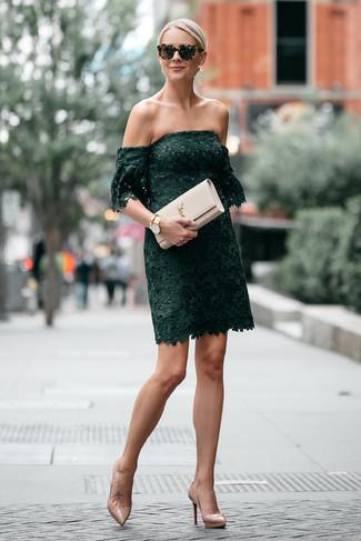 Vestido verde combina con zapatos
