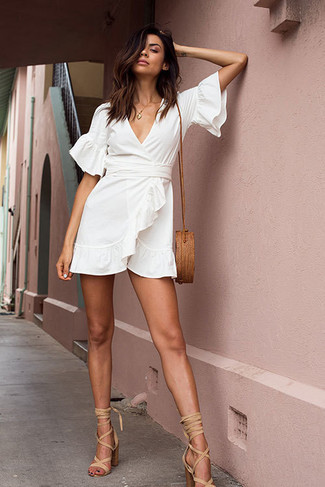Vestido blanco cruzado