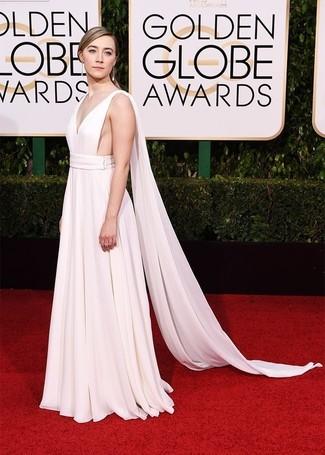 caaec4a9f4e8 Cómo combinar un vestido de noche blanco (29 looks de moda)   Moda ...