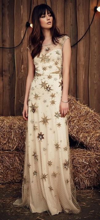 Cómo Combinar Un Vestido Dorado 272 Looks De Moda Moda