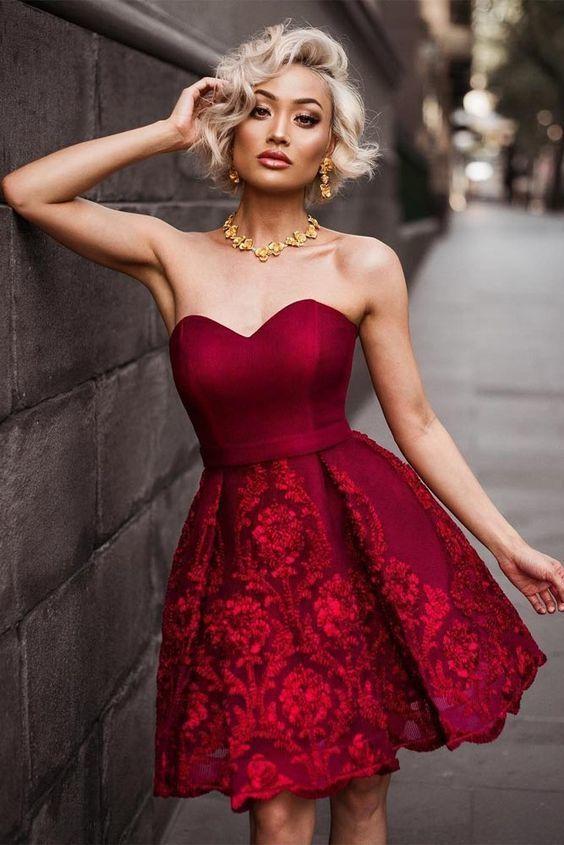 Collar para vestido rojo de noche
