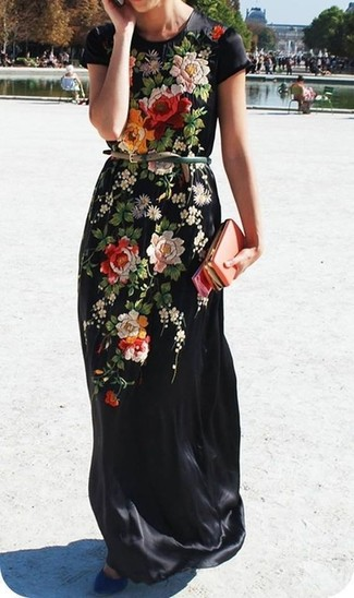 Zapatos para vestidos largos de flores