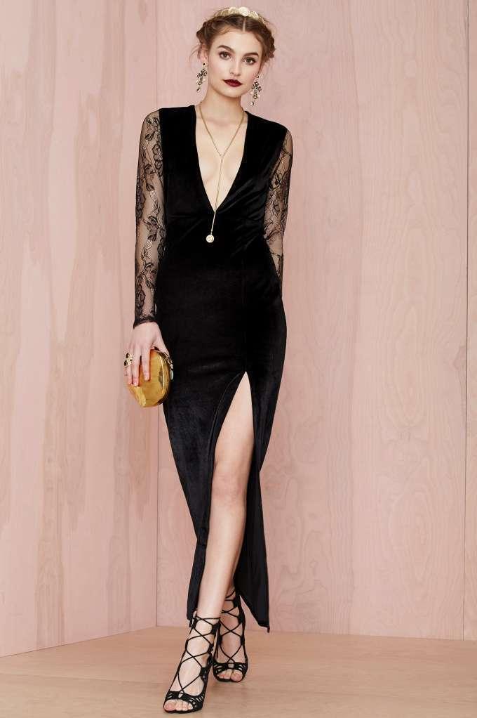 Tacones para vestido negro largo