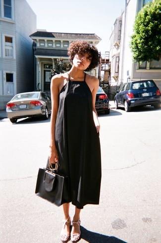 Vestido midi negro de Isabel Marant