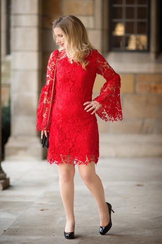 Cómo Combinar Un Vestido De Encaje Rojo 63 Looks De Moda