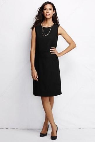 Como adornar un vestido negro largo