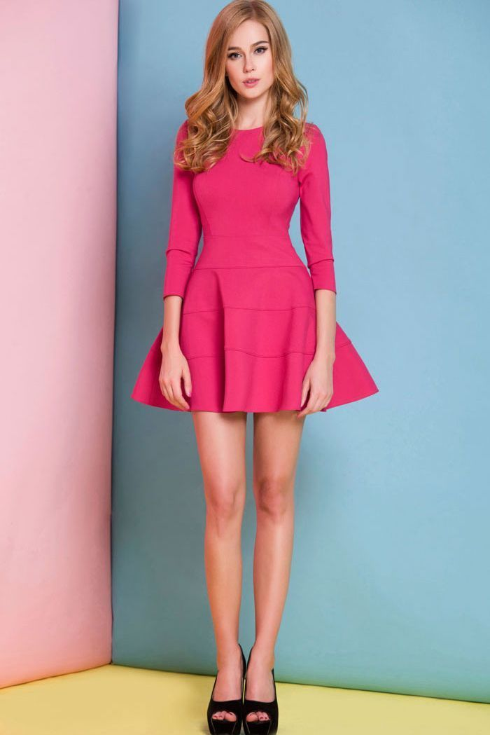 Cómo combinar un vestido rosa en 2018 (191 formas) | Moda para Mujer