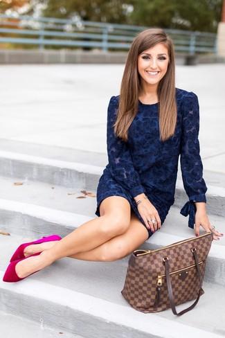 Zapatos para vestido azul marino fiesta