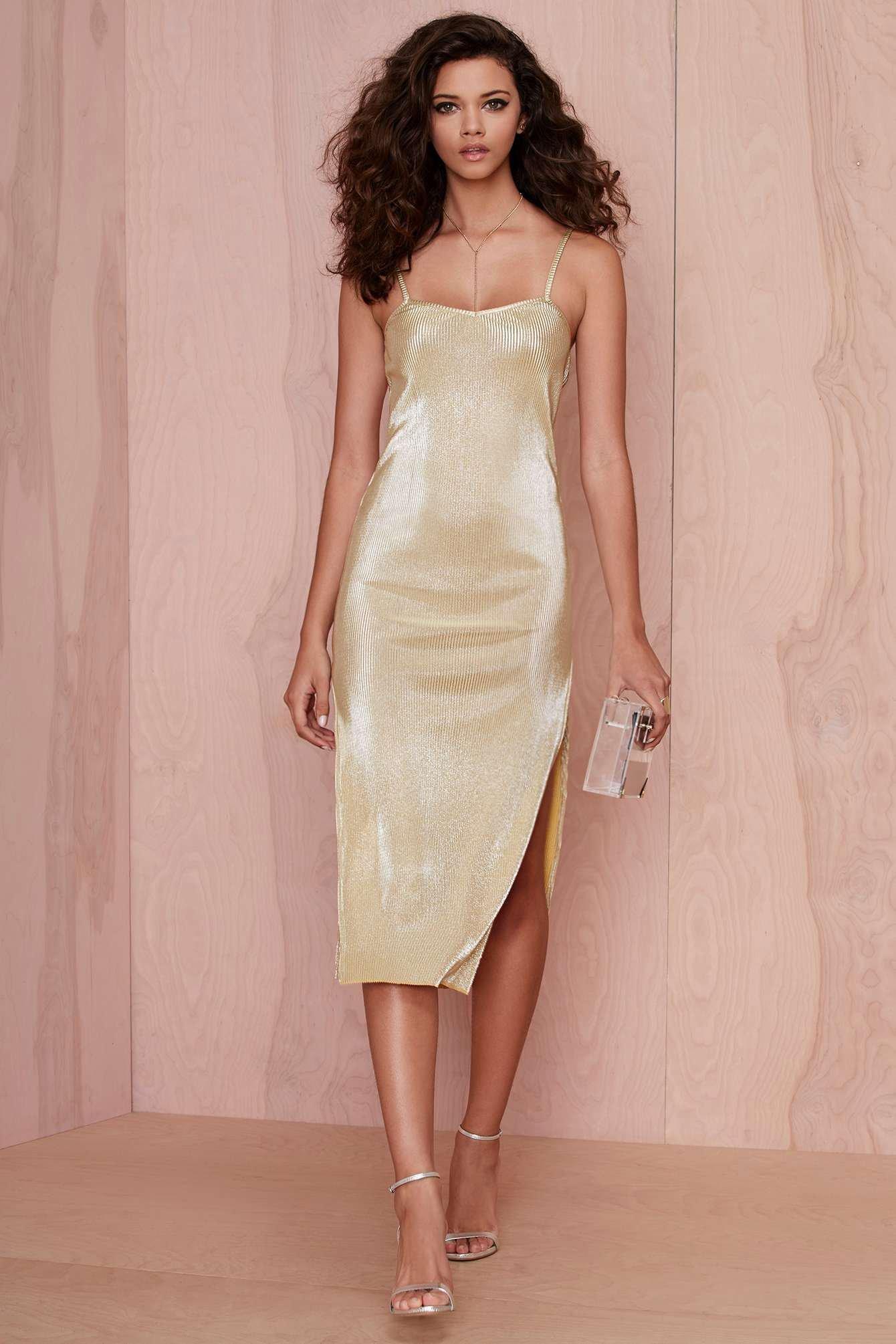 Cómo combinar un vestido dorado en 2018 (214 formas) | Moda para Mujer