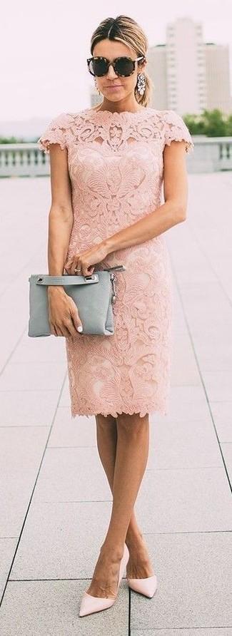 Zapatos de tacón de cuero rosados de Missguided