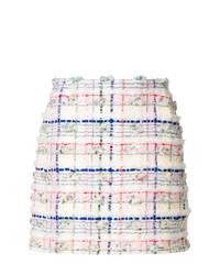 Minifalda a cuadros blanca de Thom Browne