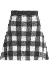 Minifalda a cuadros en negro y blanco de Balenciaga