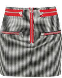 Minifalda a cuadros en negro y blanco de Isabel Marant