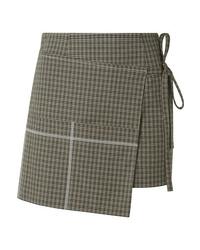 Minifalda a cuadros verde oliva
