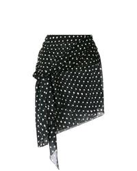 Minifalda a lunares en negro y blanco de Saint Laurent