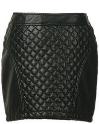 Minifalda acolchada negra