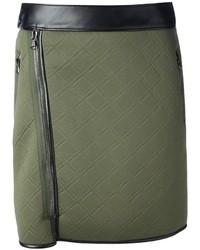 Minifalda acolchada verde oscuro de 3.1 Phillip Lim