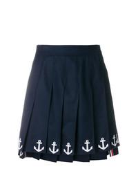 Minifalda azul marino de Thom Browne