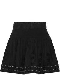 Minifalda con adornos negra de Etoile Isabel Marant