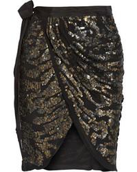 Minifalda con adornos negra de Isabel Marant