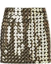Minifalda con adornos negra de Moschino