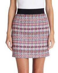 Minifalda con estampado geométrico en multicolor