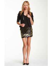 Minifalda con estampado geométrico