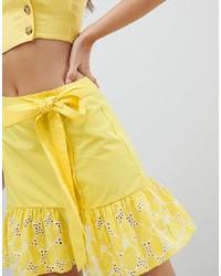 Minifalda con ojete amarilla de ASOS DESIGN