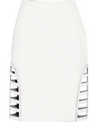 Minifalda con recorte blanca de Fendi