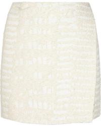 Minifalda con relieve blanca de Proenza Schouler