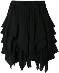 Minifalda con volante negra de Etoile Isabel Marant