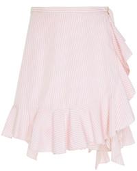 Minifalda con volante rosada