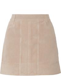 Minifalda de ante en beige