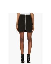 Minifalda de ante negra de Acne Studios