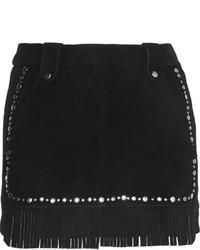 Minifalda de ante negra de Maje