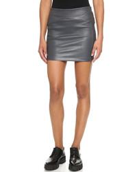 Minifalda de cuero gris