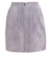 Minifalda de Cuero Gris de Vero Moda