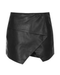 Minifalda de cuero negra