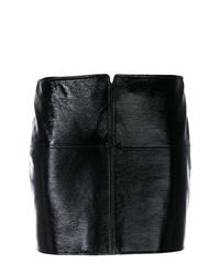 Minifalda de Cuero Negra de Courreges