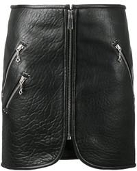 Minifalda de cuero negra de Etoile Isabel Marant