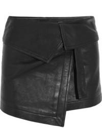 Minifalda de cuero negra de Isabel Marant