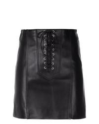 Minifalda de Cuero Negra de Manokhi