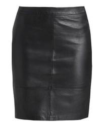 Minifalda de Cuero Negra de mbyM